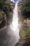 Santa Petronilla waterfall in Biasca Stock Images
