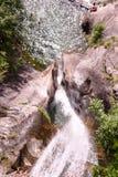 Santa Petronilla waterfall in Biasca on the Swiss alps Royalty Free Stock Image