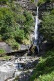 Santa Petronilla waterfalls at Biasca on Cantone Ticino Stock Images