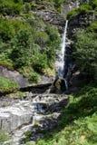 Santa Petronilla waterfalls at Biasca on Cantone Ticino Royalty Free Stock Photos