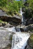 Santa Petronilla waterfalls at Biasca on Cantone Ticino Royalty Free Stock Photo