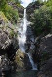 Santa Petronilla waterfalls at Biasca on Cantone Ticino Stock Photo