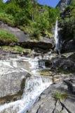 Santa Petronilla waterfalls at Biasca on Cantone Ticino Royalty Free Stock Image
