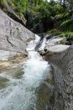 Santa Petronilla waterfalls at Biasca on Cantone Ticino Royalty Free Stock Images