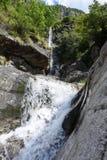 Santa Petronilla waterfalls at Biasca on Cantone Ticino Royalty Free Stock Photography