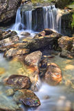 Santa Petronilla waterfalls in Biasca, Switzerland Royalty Free Stock Images