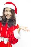 Santa piękna młoda kobieta Claus, Zdjęcia Royalty Free