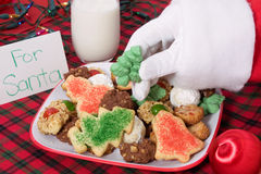 Santa Picking Out a Cookie Stock Image