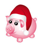 Santa piggy bank. Stock Images