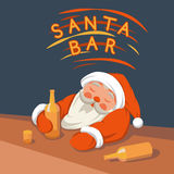 Santa pije w prętowym wektorze ilustracji