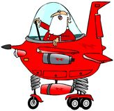 Santa piloting a starship Royalty Free Stock Photography