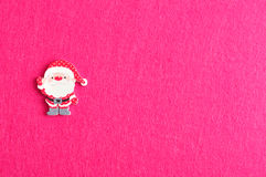 Santa  on a pink background Stock Image