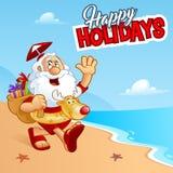 Santa plaża Fotografia Stock