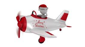 Santa in plane stock video footage