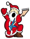 Santa play guitar. Santa claus play the guitar Royalty Free Stock Photo