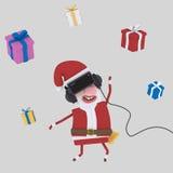 Santa Playing avec des verres de VR 3d illustration stock