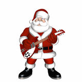 Santa Playing a Guitar 1. Santa playing a guitar.  Isolated on a white background Stock Images