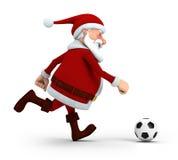 Santa playing soccer royalty free illustration