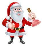 Santa Plumber Fotografia Stock