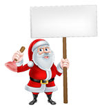 Santa Plunger Sign Royalty Free Stock Photo
