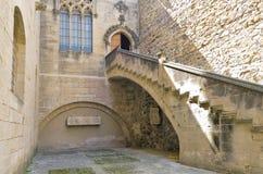 santa poblet μουσείων μοναστηριών de entry Μαρία Στοκ φωτογραφία με δικαίωμα ελεύθερης χρήσης