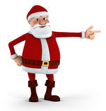 Santa pointing Royalty Free Stock Images