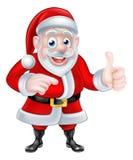 Santa Pointing Stock Photo
