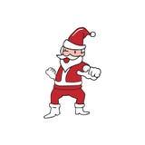 Santa pointing. Santa finger pointing cartoon drawing Royalty Free Stock Images