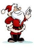 Santa pointing on isolated white. Illustration of a santa pointing something on isolated white background Royalty Free Stock Photo