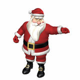 Santa Pointing Stearnly Royalty Free Stock Images