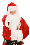 Santa Points at You. Santa pointing his finger at the camera.  Isolated on white Stock Photography