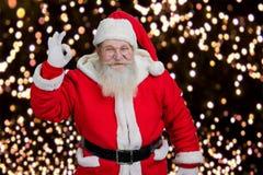 Santa pokazuje ok gest Obrazy Royalty Free
