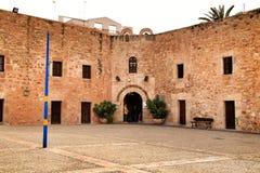 Fortress castle of the fishing village of Santa Pola, Spain. Santa Pola, Alicante, Spain- January 16, 2019: Fortress castle of the fishing village of Santa Pola royalty free stock photos