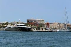 Marina of the fishing village of Santa Pola, Alicante, Spain stock photography