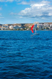 Santa Pola Alicante view from Mediterranean sea Royalty Free Stock Photography
