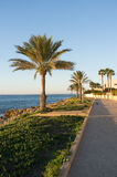 Santa Pola beach promenade Stock Photo
