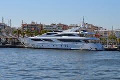 Santa Pola Harbour - Yacht Boat  Sailing  Royalty Free Stock Photography