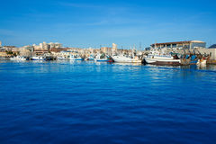 Santa Pola portmarina i Alicante Spanien Arkivbilder