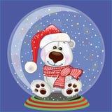 Santa Polar Bear Photo stock