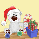 Santa Polar Bear Photographie stock