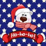 Santa Polar Bear Photographie stock libre de droits