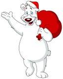 Santa Polar Bear Royaltyfri Foto