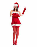 Santa pomagiera bożych narodzeń dziewczyna. Fotografia Stock
