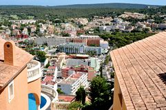 Santa Ponca view in Spain. Santa Ponca view from the top on Mallorca island of Spain Royalty Free Stock Photography