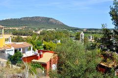 Santa Ponca view to hills. Santa Ponca view from the top on Mallorca island of Spain Stock Photo