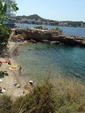 Santa ponsa beach. Secluded beach in Santa ponsa, majorca Stock Photos