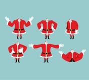 Santa pose set. Santa Claus collection. Good and evil. Cheerful Stock Photography