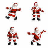 Santa Poses. Santa in various poses Royalty Free Stock Image