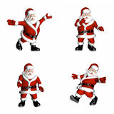 Santa Poses. Santa in various poses Stock Image