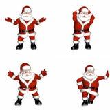 Santa Poses Stock Photo